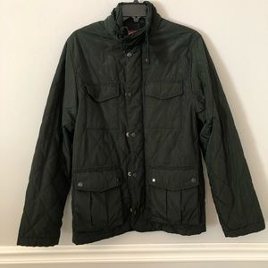 Merona green quilted style light zip up jacket S